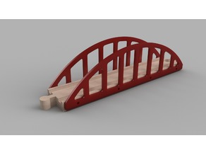 wodden train bridge for 216 mm track simple