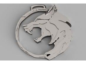 Netflix Witcher Logo Medallion Keychain