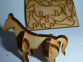 Tiny, lasercut horse