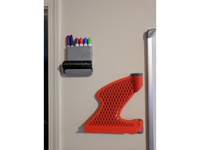 Dry Erase Marker/Eraser Wall Mount (No Supports)