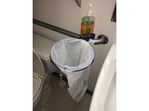 Handicap Grab Bar Trash Can / Bag Holder