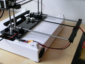 Robo3D Y-axis smooth rod upgrade for stock bed