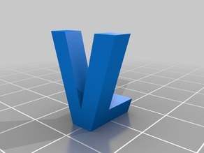 My Customized 3D Ambigram - LV