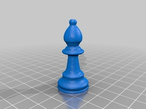 Single Bishop Chess Piece