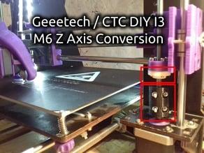 Geeetech / CTC DIY I3 Pro B M6 Z Axis Conversion