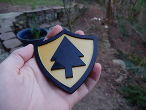 Firewatch Badge - Separate inner shield for Multi Extrusion