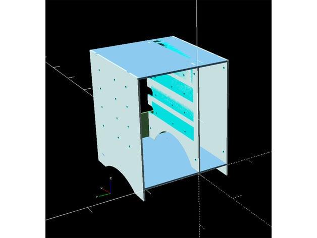 NAS Mini-ITX case openScad