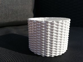 Test print with woven structure