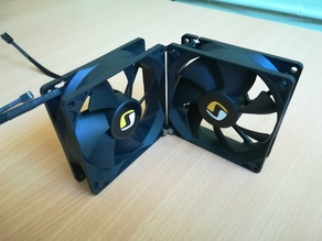 92mm fans joint 90 degrees