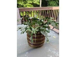 Bourbon Barrel Flower Pot