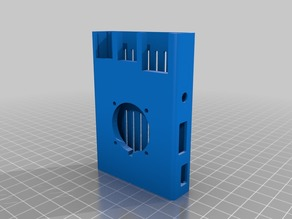 Sleeve Case for Raspberry Pi 3B+ case (3, 2 & B+ also fit) With FAN 30mm