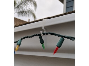 Rain Gutter Christmas Light Hanger