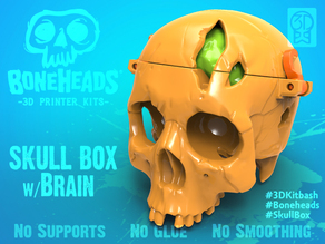 Boneheads: Skull Box w/ Brain - via 3DKitbash.com