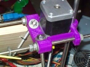 Integrated Z motor mount, frame vertex and rod clamp for Prusa Mendel