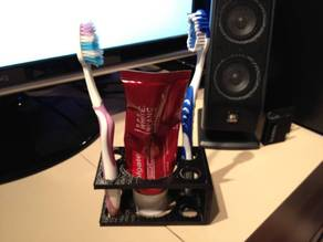 Toothbrush + Toothpaste Holder
