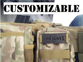 Molle Name Tag - Customizable