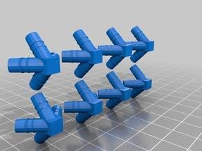 Connecteurs pour le montage d'un octaèdre( solide de Platon ) avec des pailles