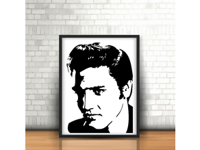 Elvis Presley Wall Sculpture 2D