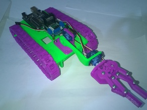 Arm for Arduino 3d printed modular tank chassis