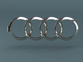 Audi keychain created in PARTsolutions