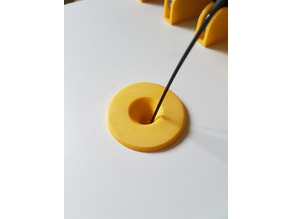 Filament guide for IKEA STUVA enclosure (30mm thickness, 26mm hole diameter)