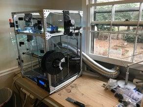 3D Printer External Dryer Vent Adapter