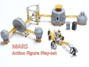 Astronaut Action Figure Play Set for Alien invasion of Mars
