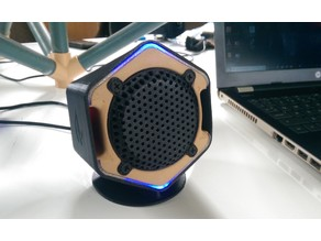Hex shape Desktop Speaker box
