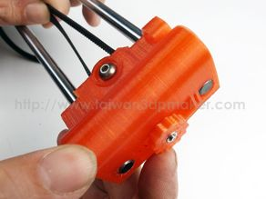 Prusa i3 x end idler with belt tightener