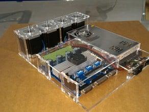 kit plexy enclosure Tester for 4 pcs nema23 and board 4axis  TB6560