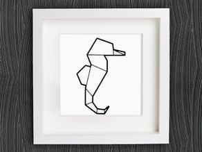 Customizable Origami Seahorse