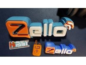 zello walkie talkie app logo badge, keychain.