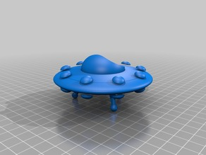 My Customized Sports Model Flying Saucer (two tone version)