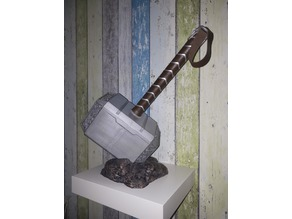 Thor's Hammer MJÖLNIR with base