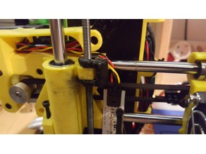 Nut in place holder for Prusa i3 / Hephestos