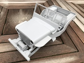 RC MB Jeep Front Bumper with winch (Ossum)