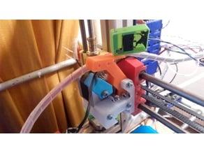 Filament pressure lever with attachment