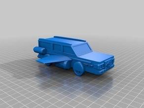 "Futuristic Flying Station Wagon ""WagenCorps Revamp AD"" prototype ""Revamp-X"""
