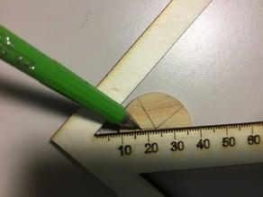 Center-Finder with Ruler V2, 3mm Plywood