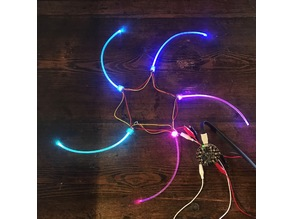 Neopixel Flora to fiber optic cable connector