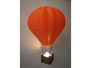 Tealight holder: Hot air balloon