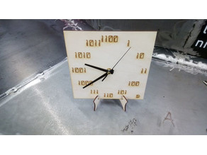 Horloge Binaire à Aiguilles / clock binary needle