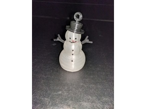 Illuminated Snowman Ornament