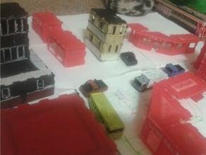 Miniature CITY for HO MODEL RAILROAD - HO Miniature Parts Kit