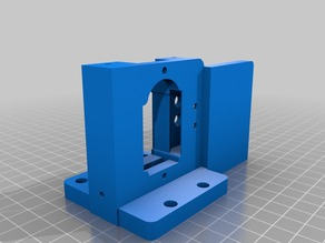 Bulldog XL Extruder mount for Prusa i3 (allows for use of fan supplied by RepRapDiscount)