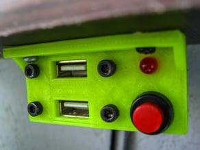 usb panel + led & power SW