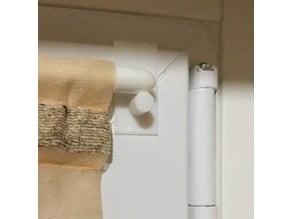 Curtain stick holder for PVC windows