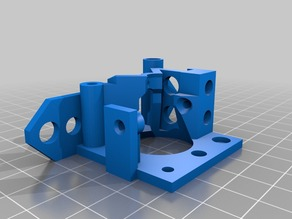 Airtripper's Bowden Extruder Body modified for push fit connectors