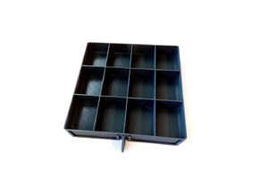 12 Same Sized Compartments Drawer for Small items organizer by cruzher