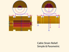 Cable Strain Relief: Simple & Parametric